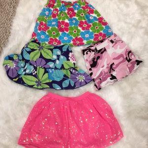 Bundle of Girls Skirts Size 4!